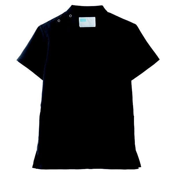 【メーカーカタログ】自重堂 男女兼用スクラブ ブラック M WH11485A 1枚  (取寄品)