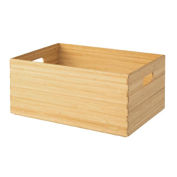 無印良品 重なる竹材長方形ボックス・中