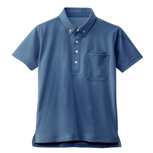 【メーカーカタログ】自重堂 半袖BDポロシャツ インディゴ 5L WH90618 1枚  (取寄品)