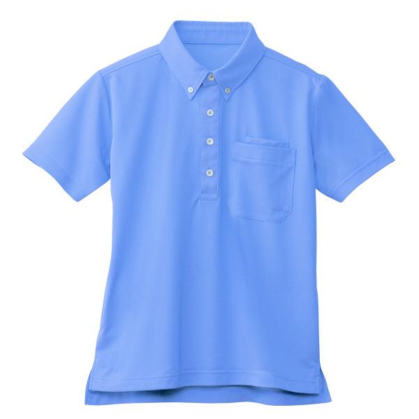 【メーカーカタログ】自重堂 半袖BDポロシャツ ブルー L WH90618 1枚  (取寄品)