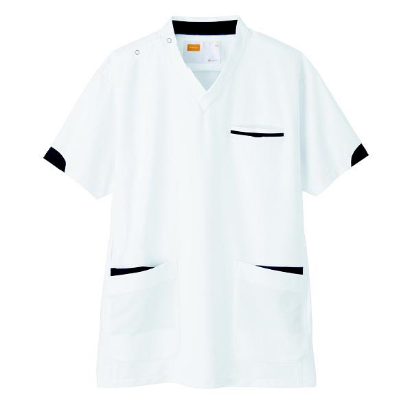 【メーカーカタログ】自重堂 男女兼用スクラブ ホワイト L WH11985 1枚  (取寄品)