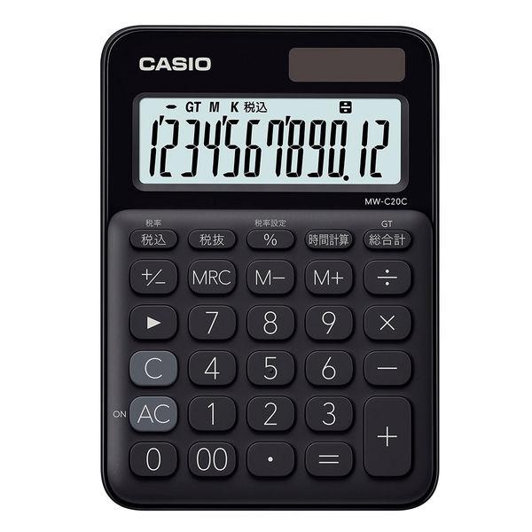 カシオ カラフル電卓MW-C20C 黒