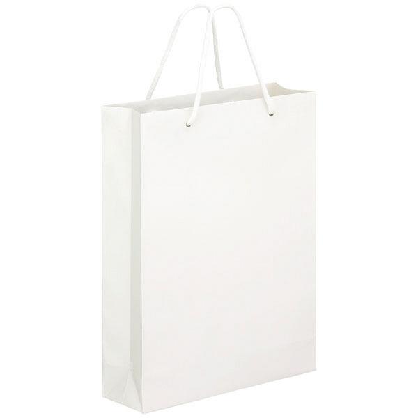 ミラーフィルム手提紙袋ホワイトM 30枚