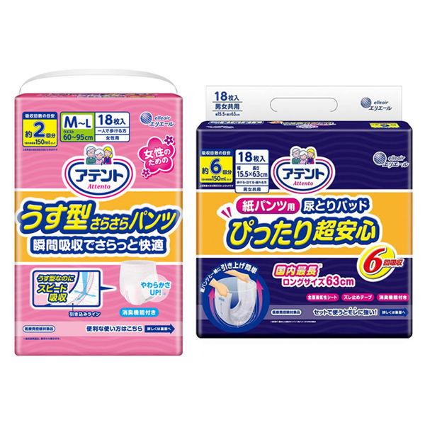 うす型パンツM~L女+パッド6回吸収