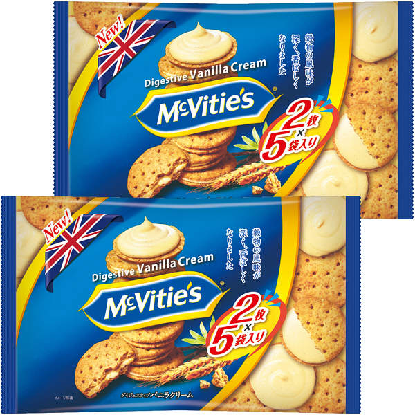 明治 マクビティバニラクリーム袋