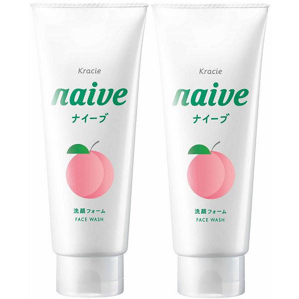 ナイーブ 洗顔フォーム 桃の葉 2個