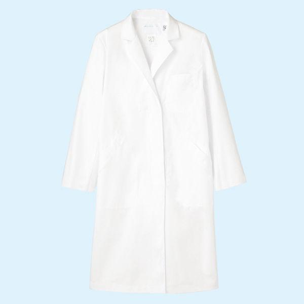 レディス診察衣(ドクターコート) シングル A71-101 ホワイト LL