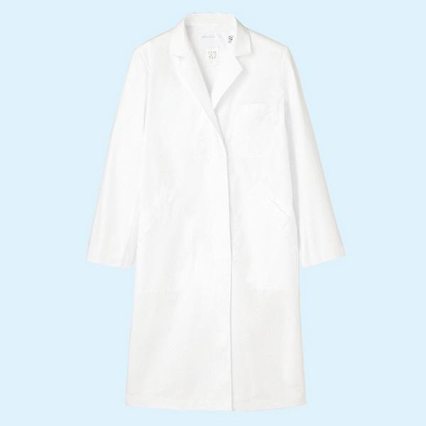 レディス診察衣(ドクターコート) シングル A71-101 ホワイト M