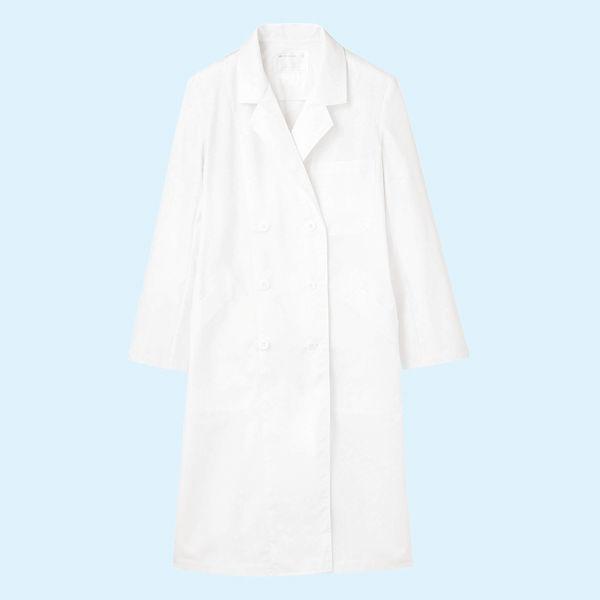 レディス診察衣(ドクターコート) ダブル A71-111 ホワイト S