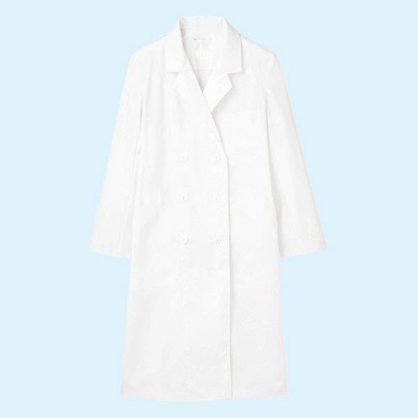 レディス診察衣(ドクターコート) ダブル A71-111 ホワイト LL