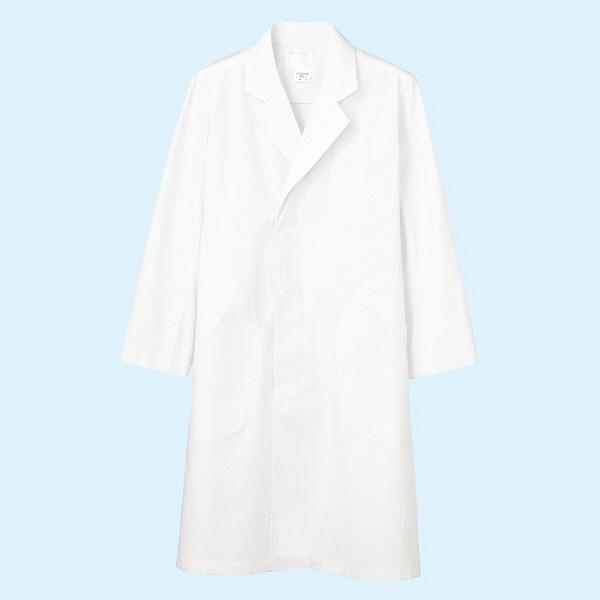 メンズ診察衣(ドクターコート) シングル A71-801 ホワイト 3L
