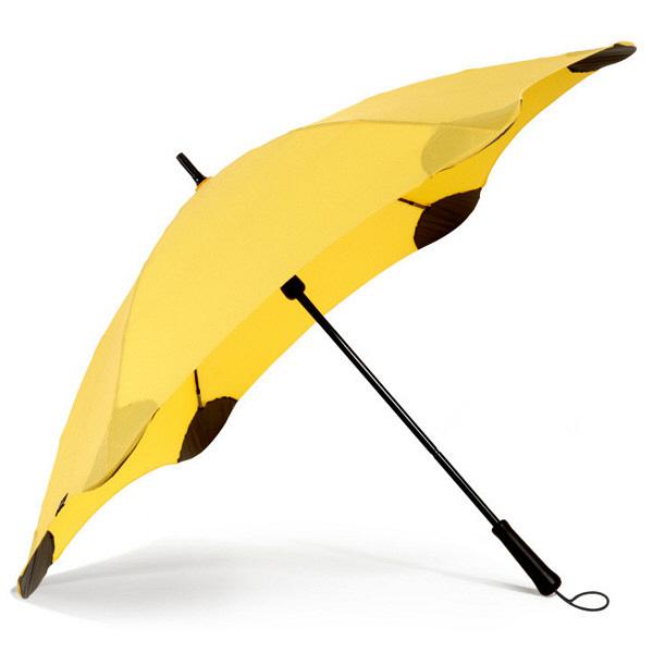 ブラント 男性用手開き長傘 イエロー 黄