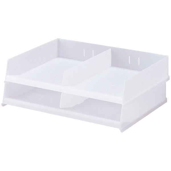 リヒトラブ フリーサイズ レタートレー 乳白 1箱(2台入) A7312