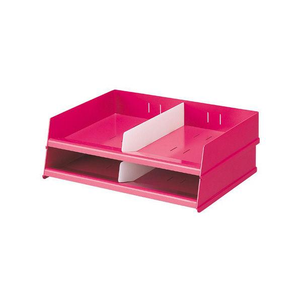 リヒトラブ フリーサイズレタートレー 赤 1箱(2台入)