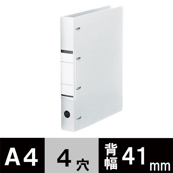 D型4穴リングファイル A4 ホワイト