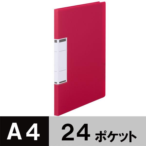 固定式クリアファイルA4 24P 赤