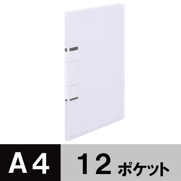 固定式クリアファイルA4 12P 白