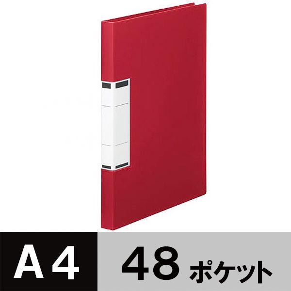 固定式クリアファイルA4 48P 赤