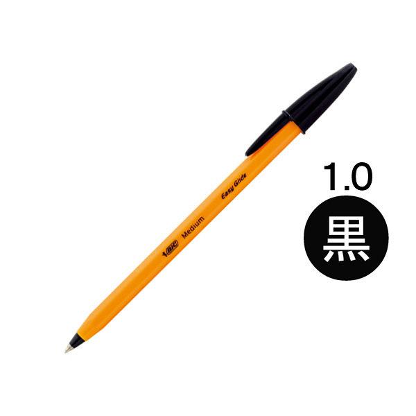 オレンジビック・ミディアムEG 黒 1.0mm E-ORMJ20EGBLK 1箱(20本入) bicジャパン