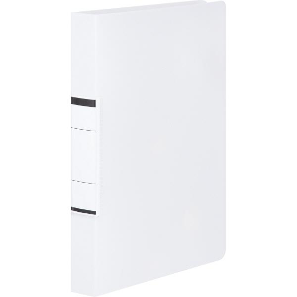 アスクル リングファイル丸型2穴 A4タテ 背幅36mm ユーロスタイル クリアホワイト