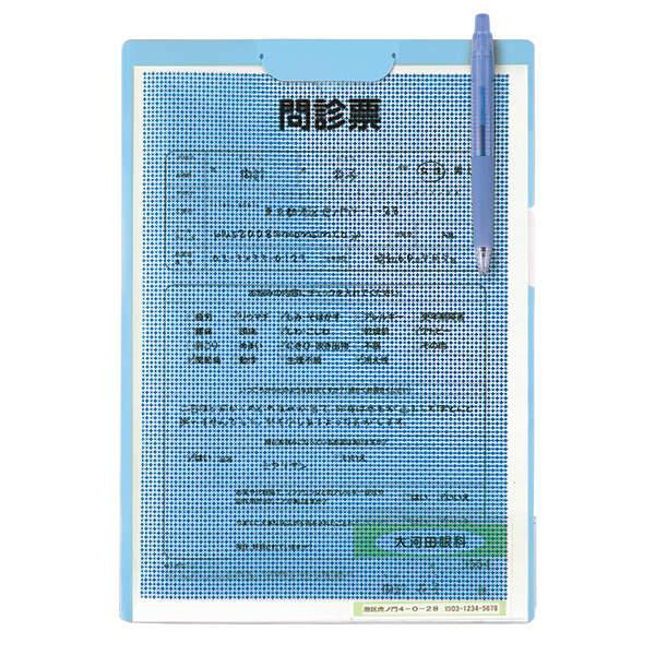 プラス クリップ付ボードホルダー カモフラージュ ブルー FL-130CH(89481) 1枚