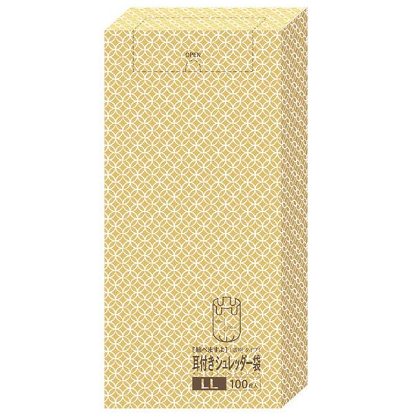ケミカルジャパン 耳付きシュレッダー袋 LL 透明タイプ MS-LL-LD 1箱(100枚入)