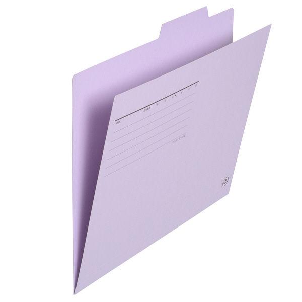 個別フォルダー A4 紫 100枚