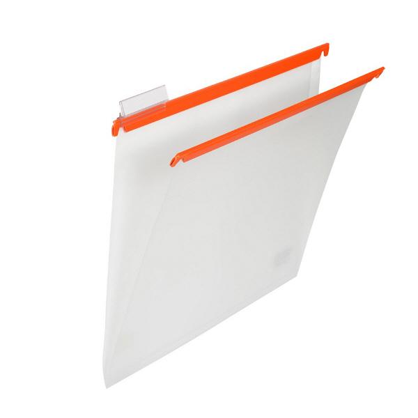プラス PP ハンガーフォルダー A4 オレンジ 1箱(60枚:10枚入×6袋)