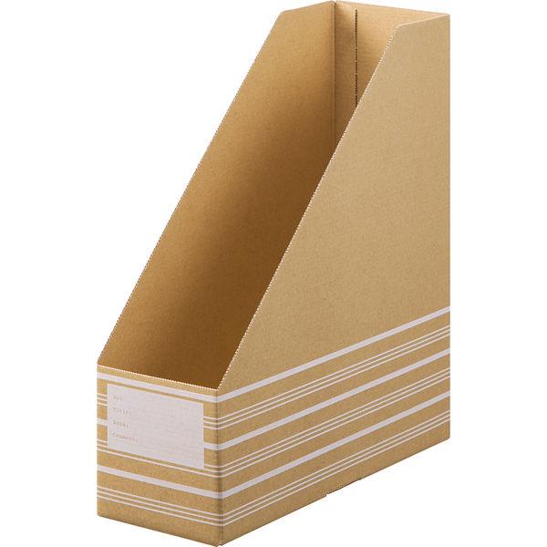 ボックスファイル ナチュラル 縦 10個
