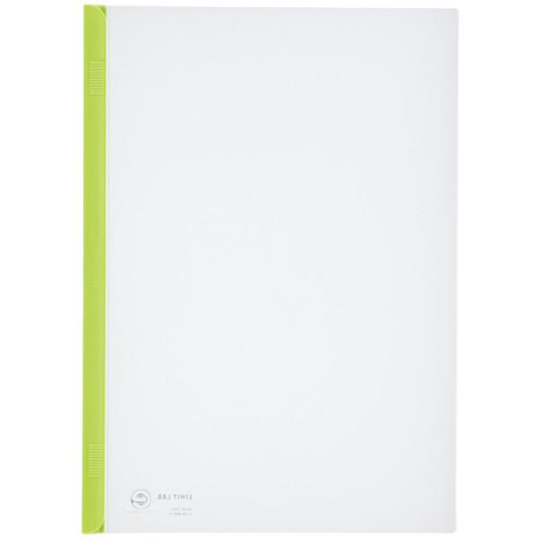 スライドバーファイル A4タテ 20枚とじ 100冊 黄緑 リヒトラブ G1720-6