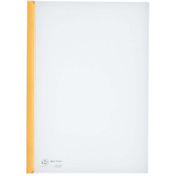 スライドバーファイル A4タテ 20枚とじ 100冊 黄 リヒトラブ G1720-5