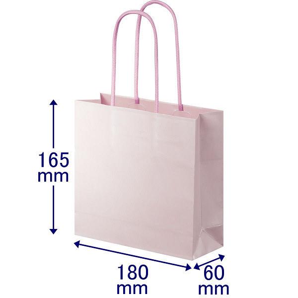 丸紐 手提げ紙袋 ローズ S 30枚