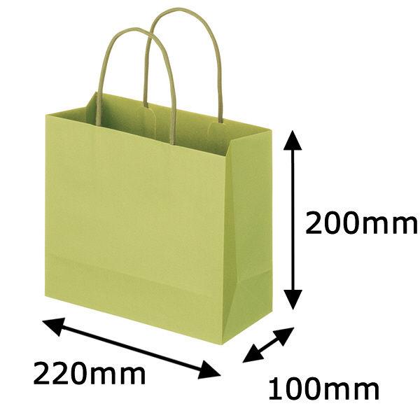 丸紐 手提げ紙袋 グリーン M 300枚