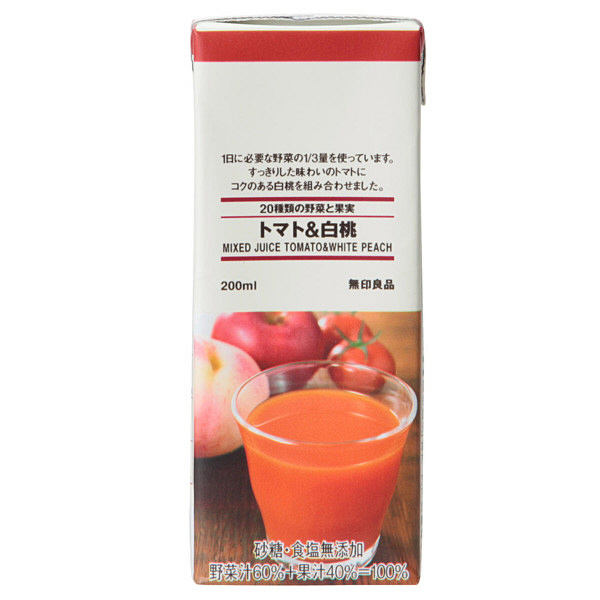20種類の野菜と果実 トマト&白桃
