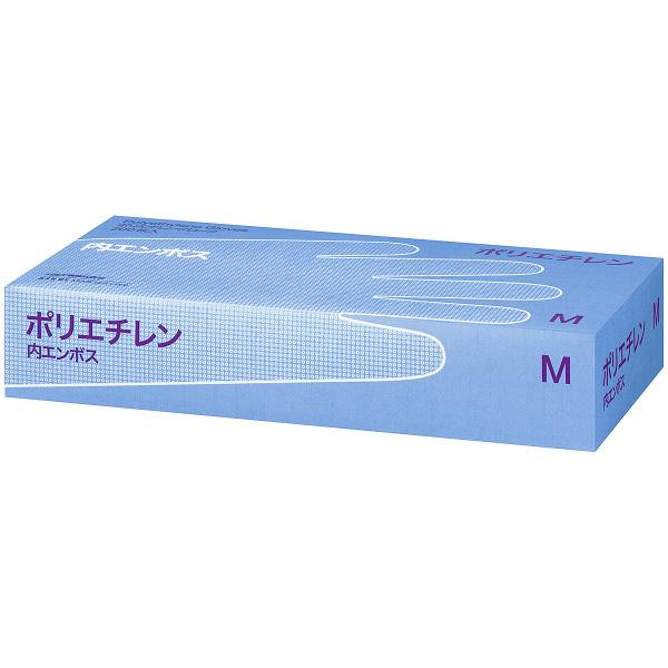 川西工業 ポリエチレン手袋 内エンボス M 1箱(200枚入) (使い捨て手袋)