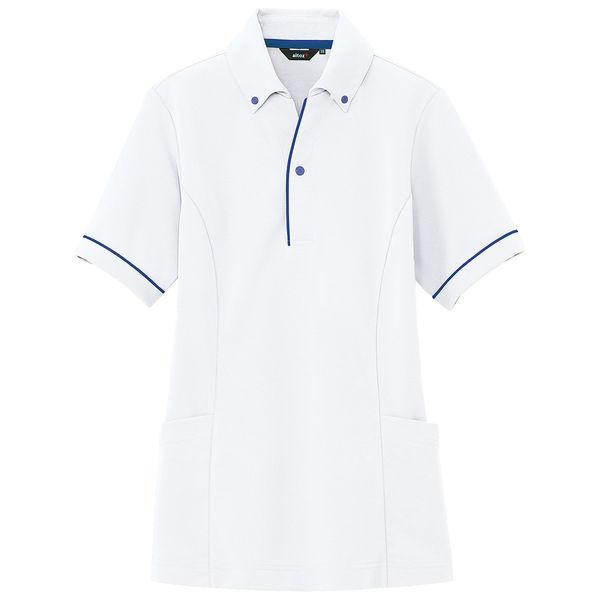 アイトス 介護ユニフォーム サイドポケットポロ 半袖ポロシャツ ホワイト M AZ7668-001