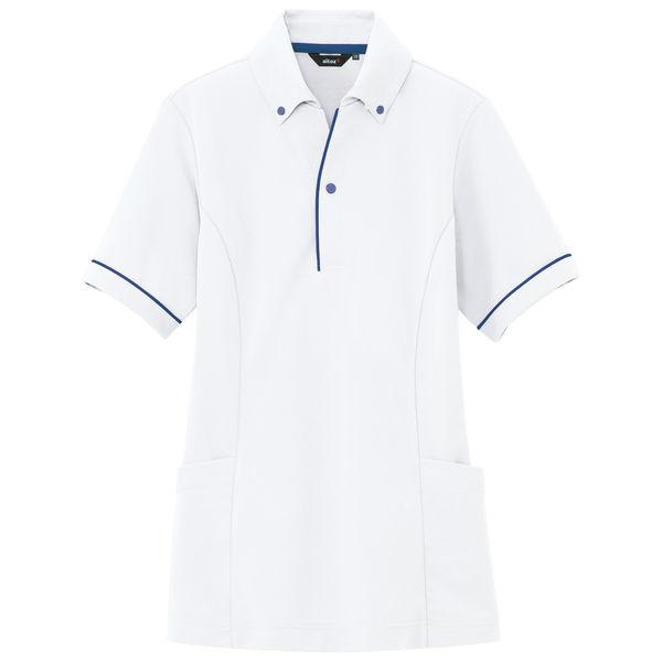 AITOZ(アイトス) サイドポケットポロ(男女兼用) AZ7668 ホワイト L 介護ユニフォーム ポロシャツ 半袖