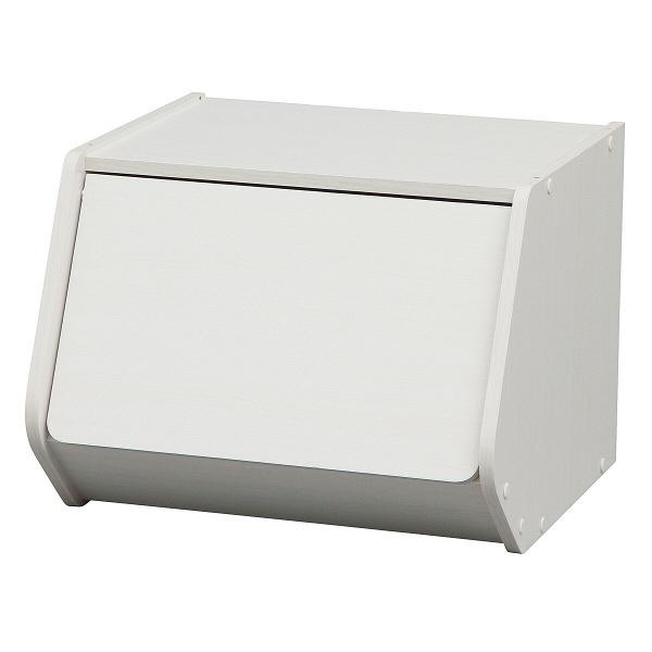アイリスオーヤマ スタックボックス 扉付き ホワイト STB-400D(227790) 1台