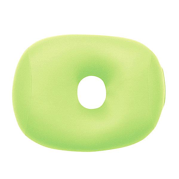 MOGU 体にフィットする穴あき枕 ビーズクッション 緑 744275 1個
