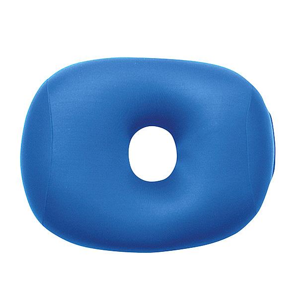 MOGU 体にフィットする穴あき枕 ビーズクッション 青 744272 1個