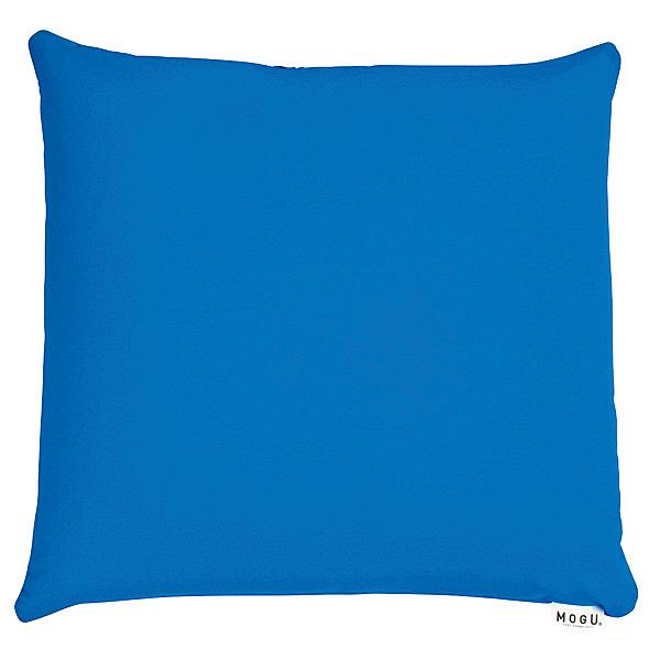 MOGU 体圧分散に優れた四角いクッション ビーズクッション 青 744276 1個