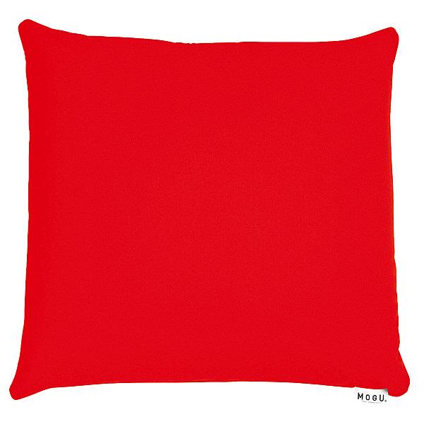 MOGU 体圧分散に優れた四角いクッション ビーズクッション 赤 744278 1個