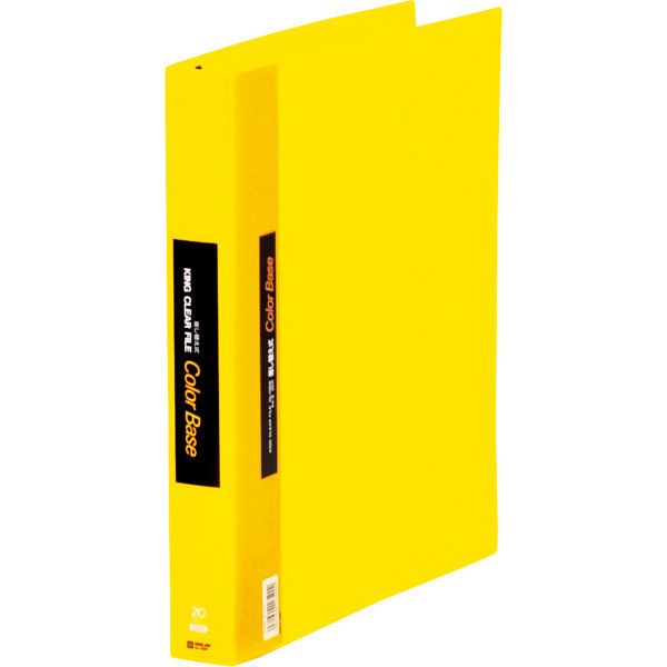 キングジム クリアファイル 差し替え式 20冊 A4タテ背幅40mm カラーベース 黄 139W