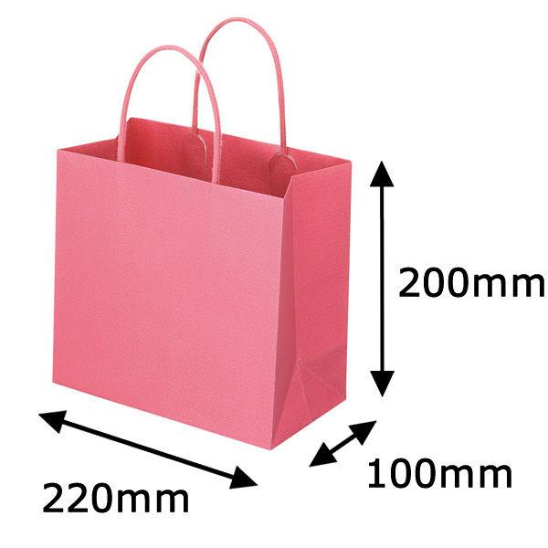 丸紐 手提げ紙袋 ローズ M 50枚