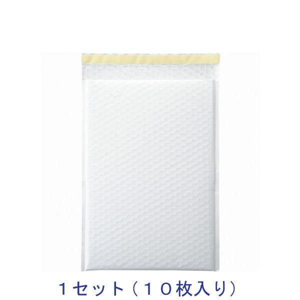 酒井化学工業 クッション封筒(ホワイト) LPW-4 255巾 10袋入 1セット(10枚)