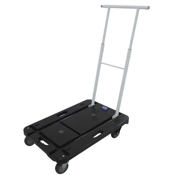 小型樹脂台車 耐荷重100kg ブラック