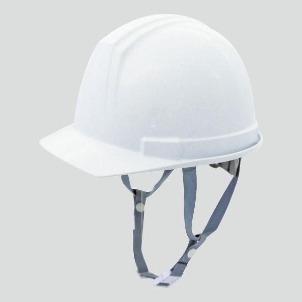 電気用 飛来・落下物用 「現場のチカラ」ヘルメット アメリカンタイプ(ライナー無し)ホワイト ABS樹脂 頭囲/53cm~62cm 0169AK-E-W1