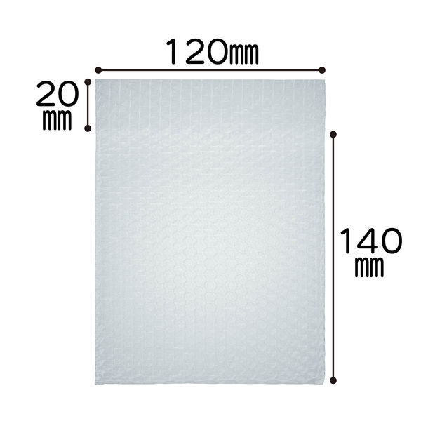 川上産業 封筒型プチプチ袋 120x140+20 #20L 1袋(200枚入)