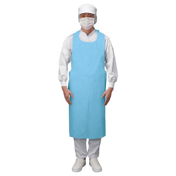 伊藤忠リーテイルリンク 袖無ポリエプロン ブルー PEG-005 1セット(300枚:100枚入×3箱)