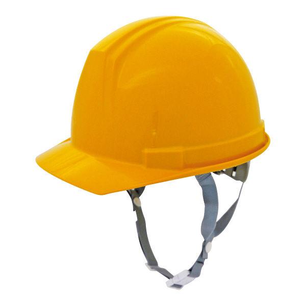 電気用 飛来・落下物用 「現場のチカラ」 ヘルメット アメリカンタイプ(ライナー無し) ABS樹脂 イエロー 頭囲/53cm~62cm 0169AK-E-Y2